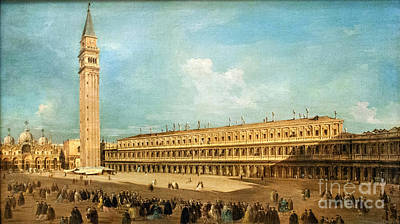 Francesco Guardi Painting - Piazza San Marco In Venice by Celestial Images