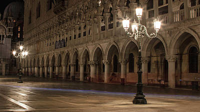 Photograph - Piazza San Marco Lights  by John McGraw