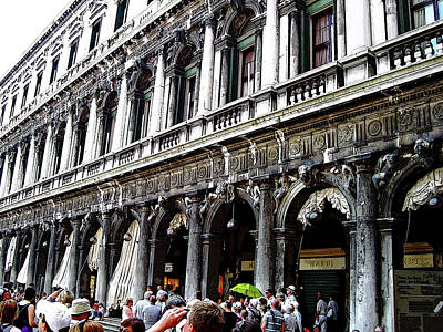 Photograph - Piazza San Marco Shops by Debbie Oppermann