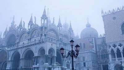 Landmark Digital Art - Piazza San Marco by Super Lovely