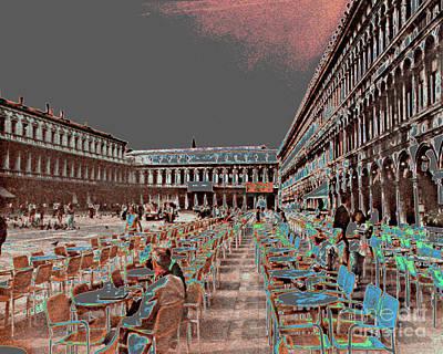 Photograph - Piazza San Marco  Venice Italy by Merton Allen