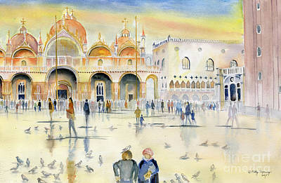 Painting - Piazza San Marco Venice by Melly Terpening