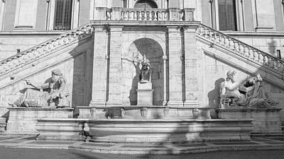 Photograph - Piazza Senatori Rome by John McGraw