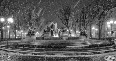 Photograph - Piazza Solferino In Winter-1 by Sonny Marcyan