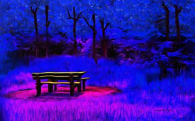 Barn Painting - Pic-nic Blue - Pa by Leonardo Digenio