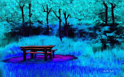 Furniture Painting - Pic-nic Cyan - Da by Leonardo Digenio
