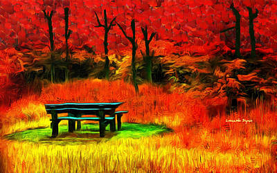 Palette Digital Art - Pic-nic Red - Da by Leonardo Digenio