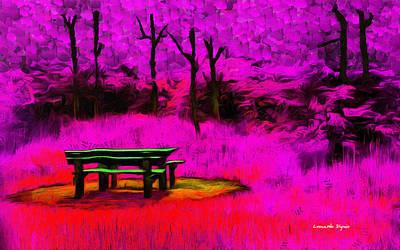 Solitude Painting - Pic-nic Violet - Pa by Leonardo Digenio