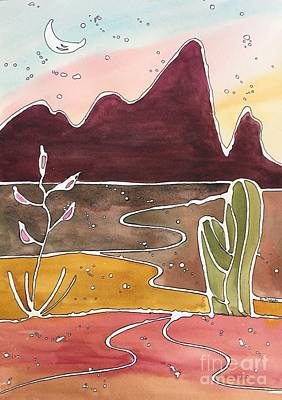 Painting - Picacho Peak by Barbara Tibbets