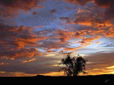 Las Cruces Digital Art - Picacho Peak Sunset II by Kurt Van Wagner