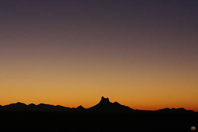Photograph - Picacho Peak Sunset by John Meader