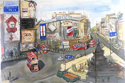 Picadilly Circus Art Print by Dan Bozich