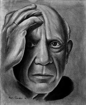 Drawing - Picasso by Alan Conder