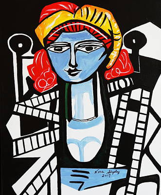 Painting - Picasso By Nora  Film Star by Nora Shepley