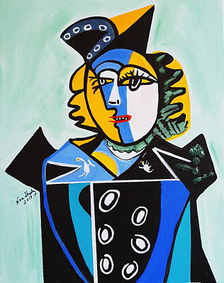 Painting - Picasso By Nora  The Queen by Nora Shepley