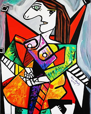 Painting - New Picasso By Nora  The Ruler by Nora Shepley