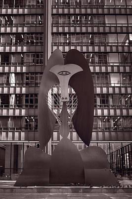 Picasso Chicago Bw Print by Steve Gadomski