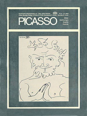 Photograph - Picasso Exhibition Poster 2 by Andrew Fare