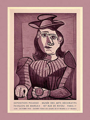Photograph - Picasso Exhibition Poster 4 by Andrew Fare