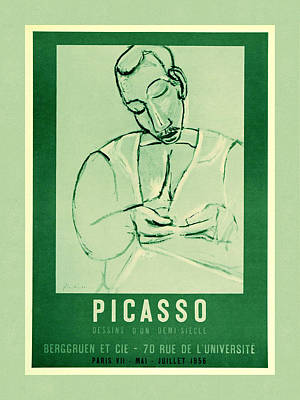 Photograph - Picasso Exhibition Poster 5 by Andrew Fare