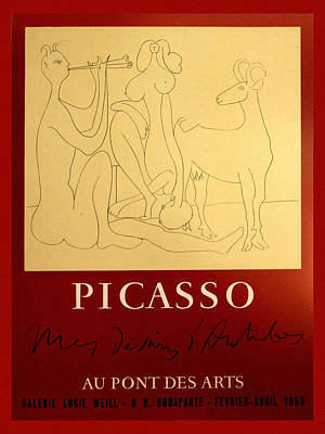 Photograph - Picasso Exhibition Poster 7 by Andrew Fare