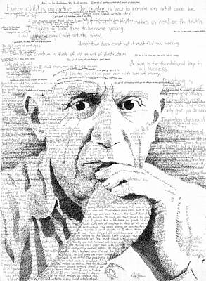 Picasso In His Own Words Art Print