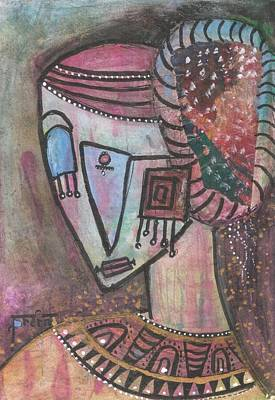 Art Print featuring the mixed media Picasso Inspired by Prerna Poojara