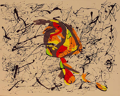 Painting - Picasso Is To Twombly by Wayne Salvatore