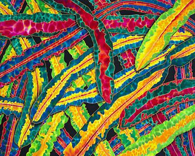 Silk Painting - Picasso Paintbrush Croton by Daniel Jean-Baptiste