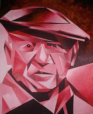 Picasso Portrait The Rose Period Art Print by Tracey Harrington-Simpson