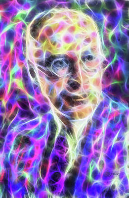 Digital Art - Picasso Prokofiev by Dave Luebbert