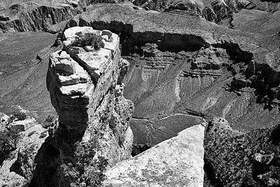 Photograph - Picasso Rock Black And White by Kyle Findley