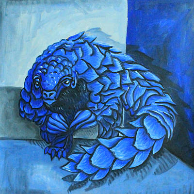 Pangolin Painting - Picasso Style Pangolin by Eric Gibbons