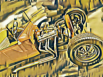 Digital Art - Picasso T Bucket by David King