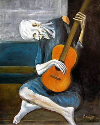 Picasso's Old Guitarist Art Print