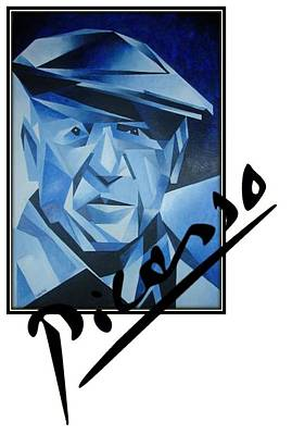 Painting - Picasso's Signature by Tracey Harrington-Simpson