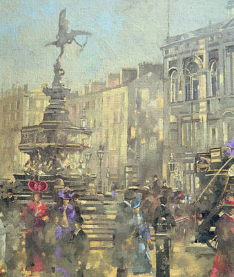 London Central Painting - Piccadilly Circus by Peter Miller