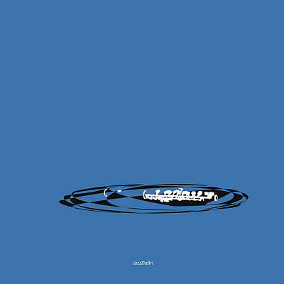 Digital Art - Piccolo In Blue by David Bridburg