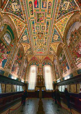Piccolomini Library Siena Italy Art Print by Joan Carroll