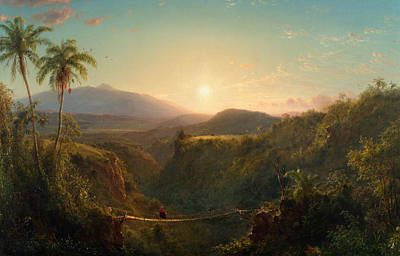 South American Painting - Pichincha by Frederic Edwin Church