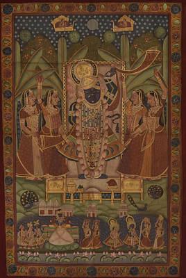 Rajasthani Painting - Pichwai 114 by Pichwai Pichvai Pichhavai Pitchwai