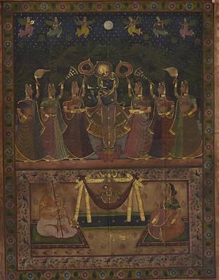 Rajasthani Painting - Pichwai 158 by Pichwai Pichvai Pichhavai Pitchwai