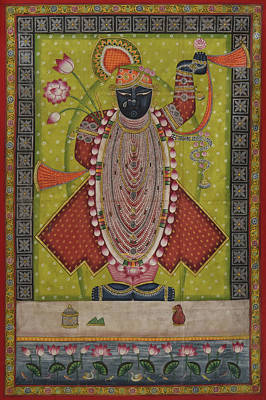 Rajasthani Painting - Pichwai 165 by Pichwai Pichvai Pichhavai Pitchwai