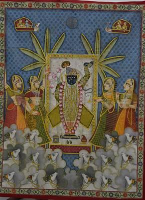 Shri Krishna Painting - Pichwai 2 by Unknown