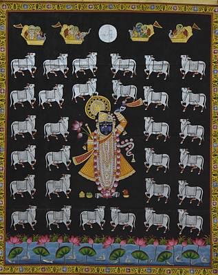 Shri Krishna Painting - Pichwai 7 by Unknown