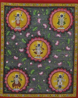 Shri Krishna Painting - Pichwai 6 by Unknown