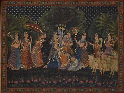Rajasthani Painting - Pichwais 170 by Pichwai Pichvai Pichhavai Pitchwai