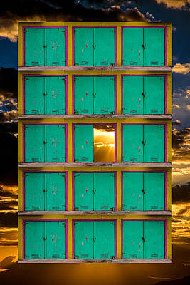 Photograph - Pick A Door by Harry Spitz