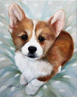 Corgi Painting - Pick Me by Mary Sparrow