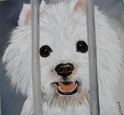 Painting - Pick Me Too Westie by Debra Campbell